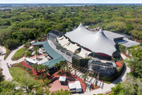 aerial view of the st. augustine amphitheatre